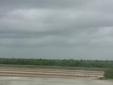 Cloudy skies in West Palm Beach, Florida