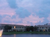 "Sunset on the nite before Tropical Storm ""Isaac"""